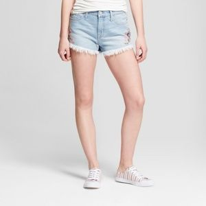 NWT Mossimo embroidered denim shorts